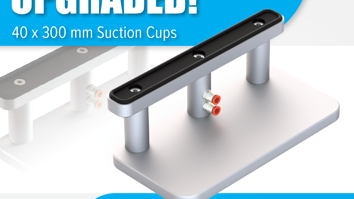UPGRADED to 40 x 300 mm Suction CUps