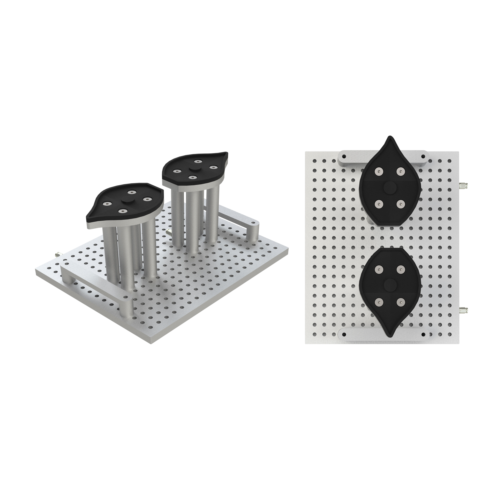 Fixture for making beveled glass trophies